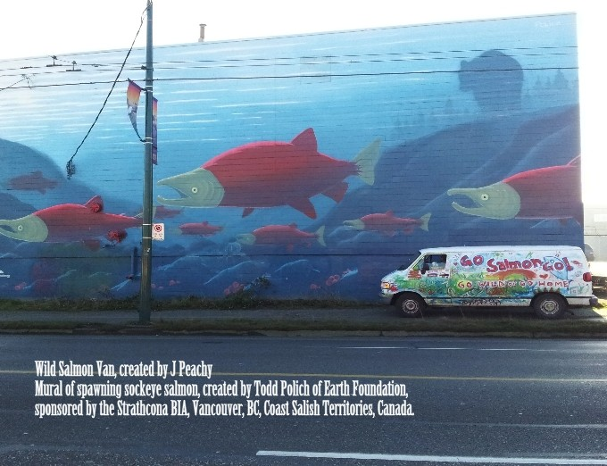 Mural painted by Todd Polich of Earth Foundation, sponsored by the Strathcona BIA.